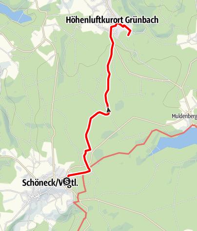 Map / Barrierefreier Wanderweg von Schöneck nach Grünbach