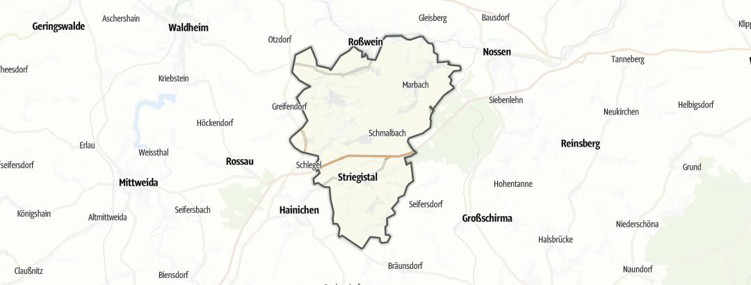 Karte / Wandern in Striegistal
