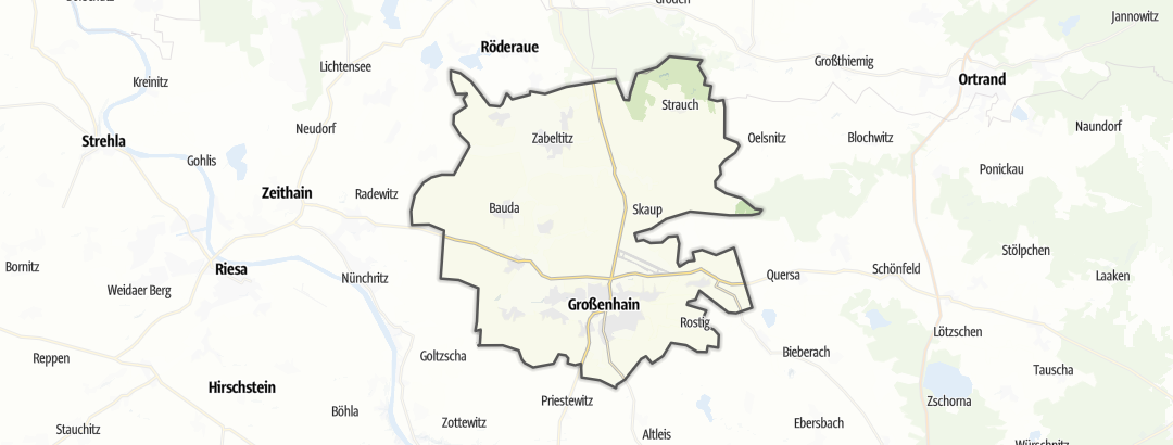 Karte / Wandern in Großenhain