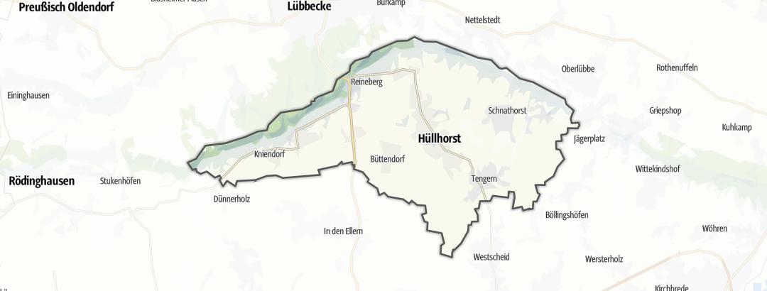 Karte / Wanderungen in Hüllhorst