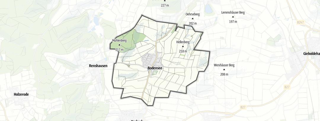 Karte / Ausflugsziele in Bodensee