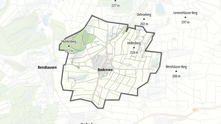Karte / Bodensee