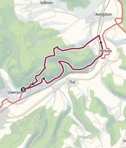 Karte / Rundtour Grillplatz Friedensthal - Welsede (9,6 km)