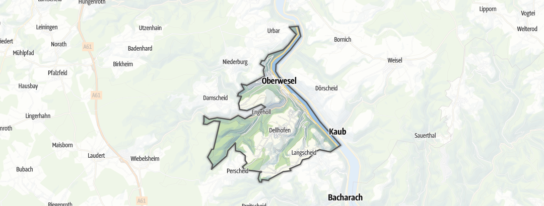 Map / Hikes in Oberwesel