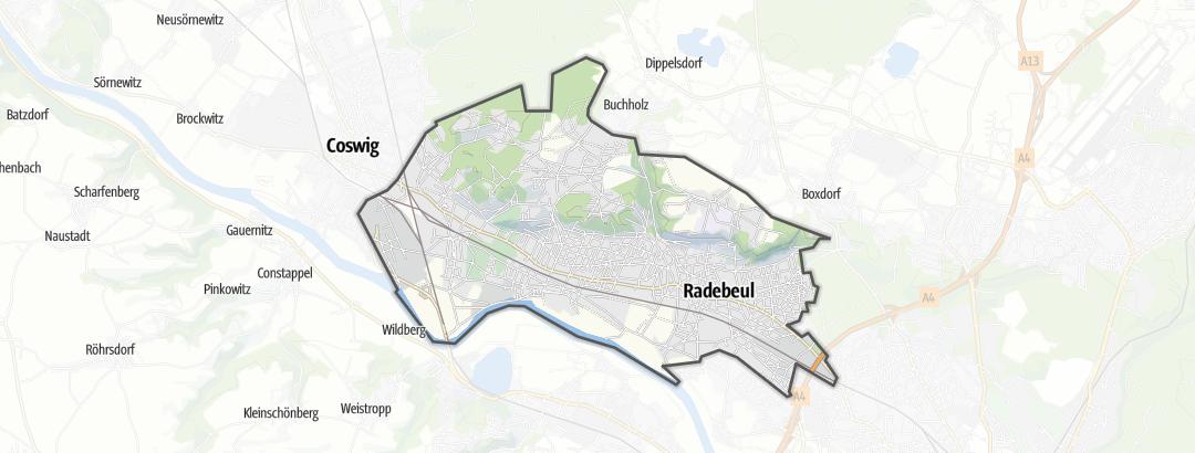 Karte / Essen und Trinken in Radebeul