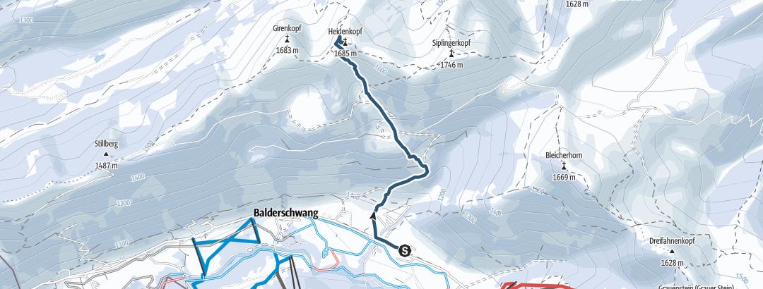 Map / Heidenkopf von Balderschwang aus