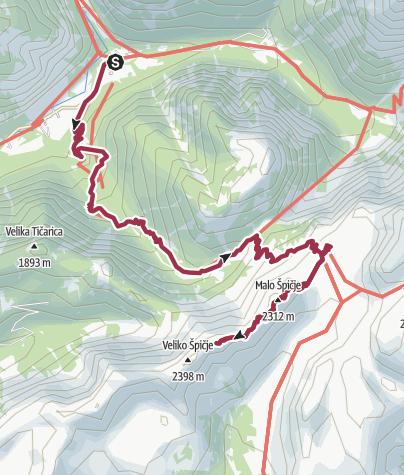 Karte / Von Trenta zur Koca na Prehodavci und zur Malo Spicje