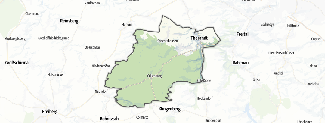Karte / Radtouren in Tharandt
