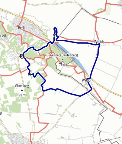 Kaart / Rondje Duitsland