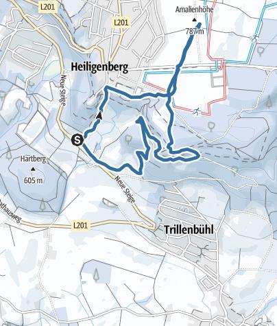 Karte / Amalienhöhe bei Heiligenberg