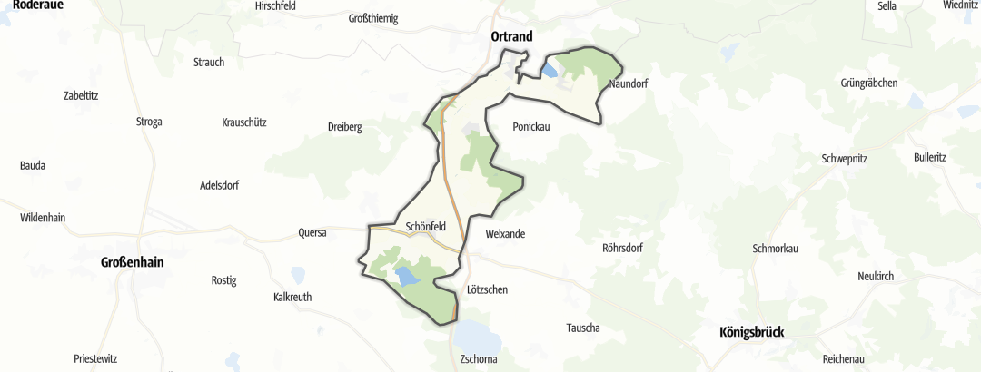 Karte / Wandern in Schönfeld