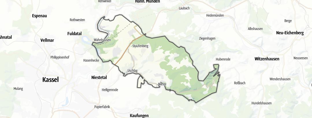 Karte / Rennradtouren in Staufenberg