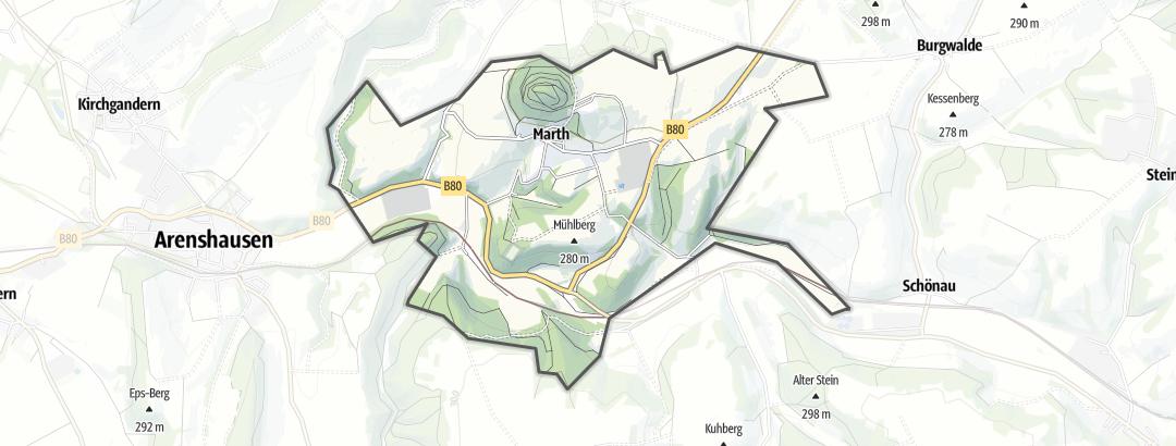 Karte / Wandern in Marth