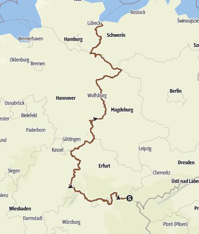 Karte / Wanderung D-D Grenze