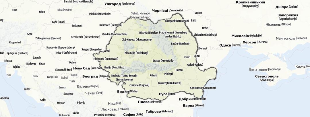 Map / Service in Romania