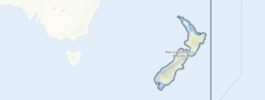 Karte / Angebote in Neuseeland