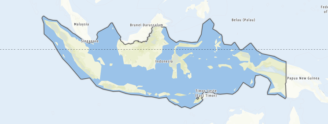 Karte / Wandern in Indonesien