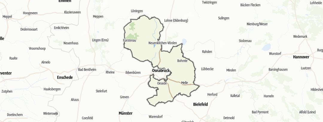 Karte / Ausflugsziele bei schlechtem Wetter in Landkreis Osnabrück