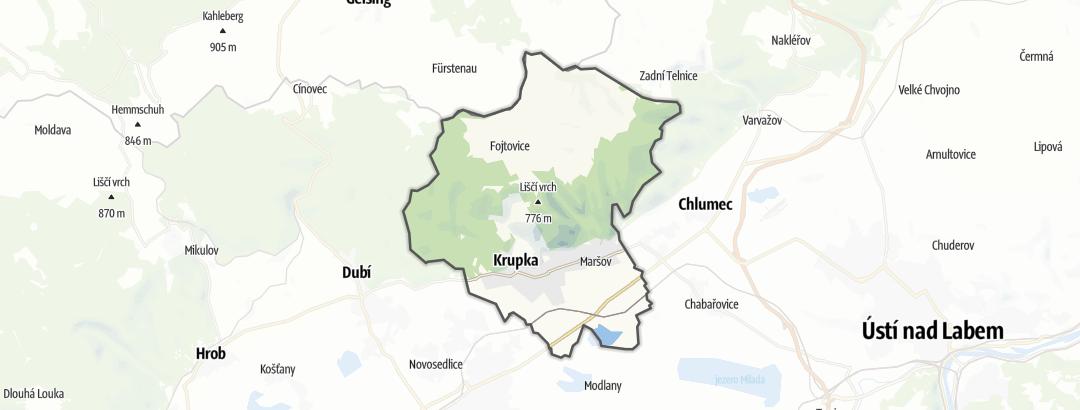 Karte / Wandern in Krupka