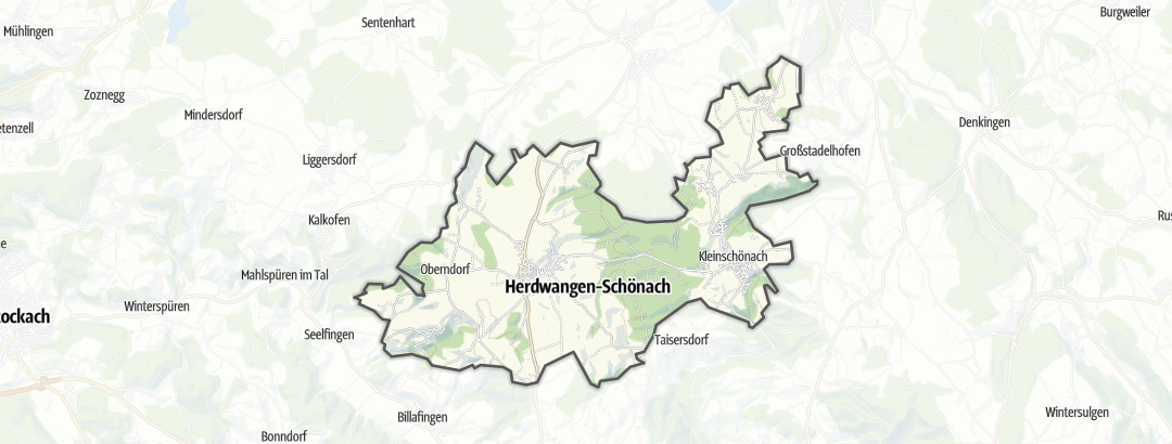 Karte / Rennradtouren in Herdwangen-Schönach
