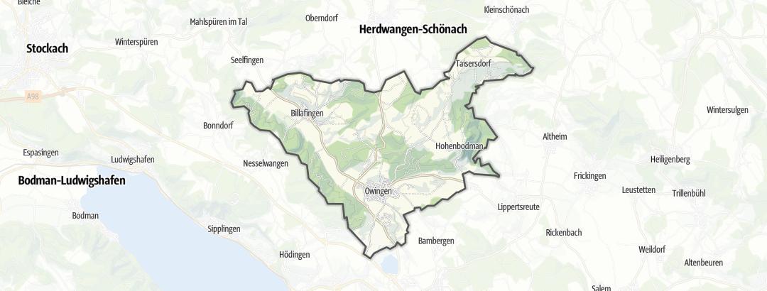 Karte / Familienausflüge in Owingen