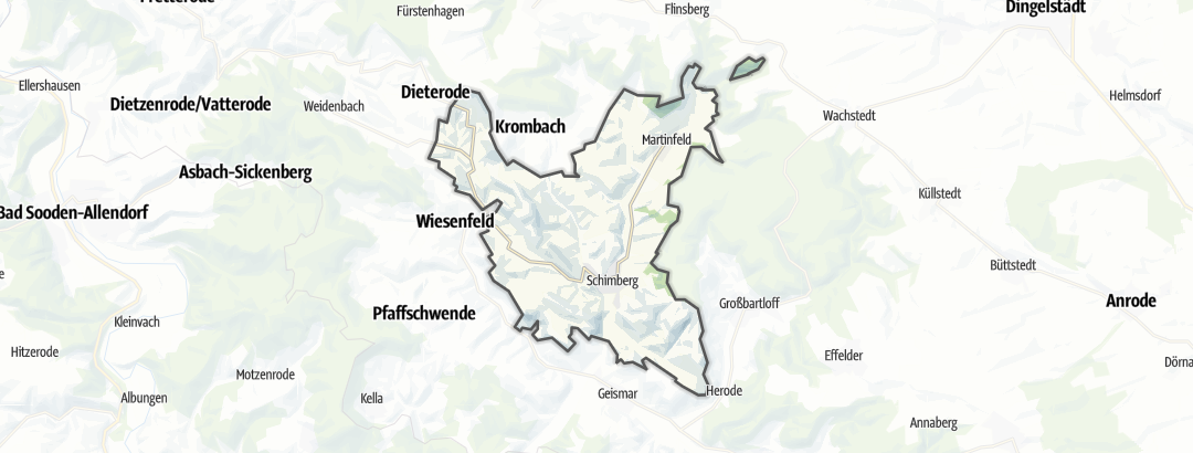 Karte / Wandern in Schimberg