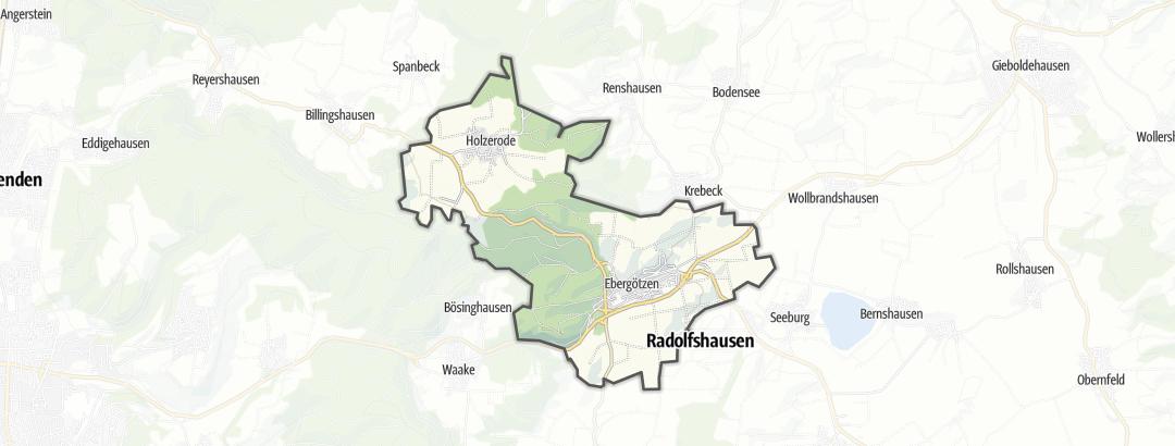 Karte / Die schönsten Ausflugsziele in Ebergötzen
