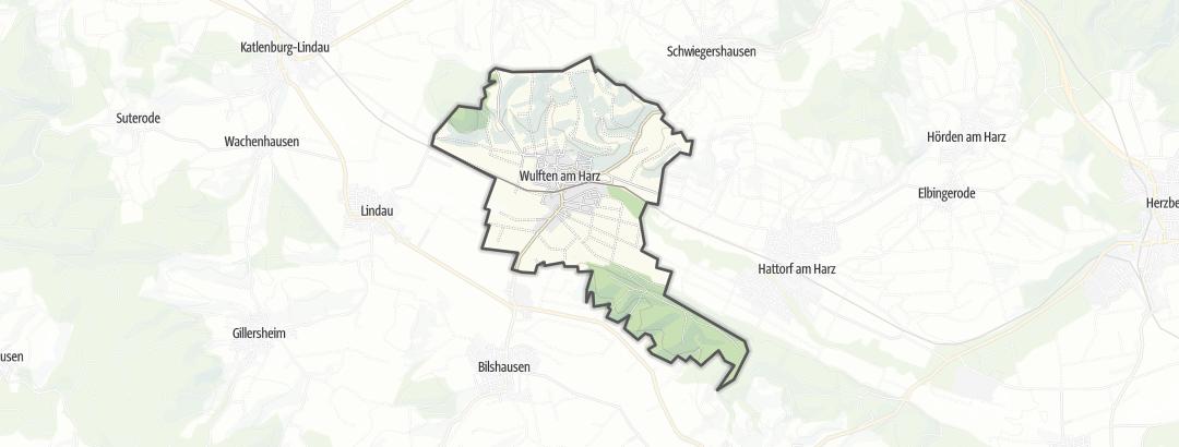 Karte / Radfahren in Wulften