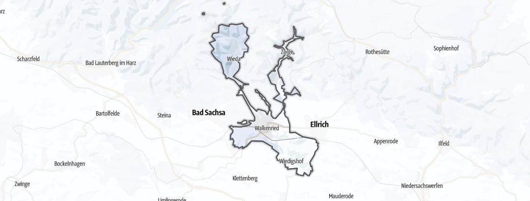 Karte / Wintertouren in Walkenried