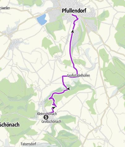 Karte / Tourenplanung am 6. Juli 2015