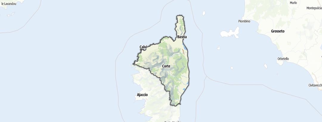 Karte / Haute-Corse