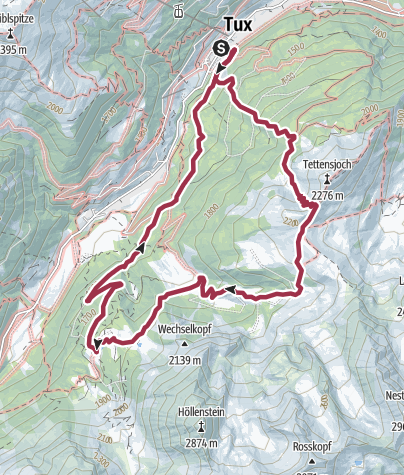 Karte / Tour über Grieralm