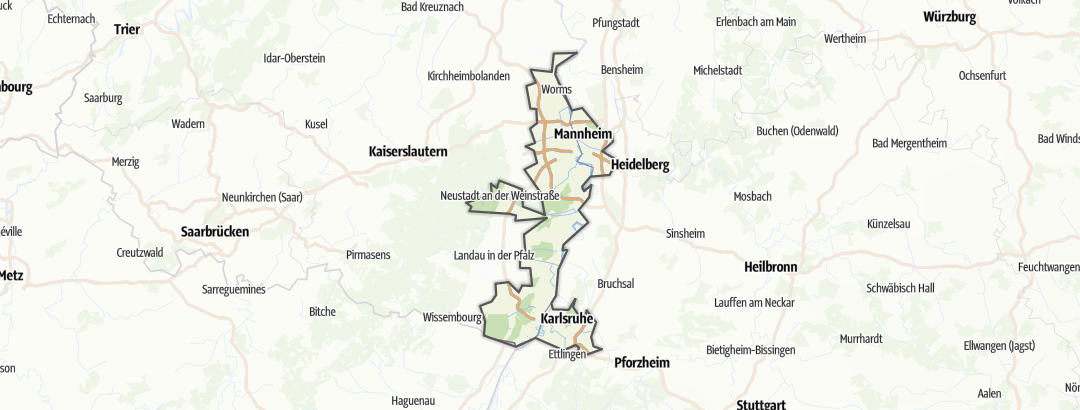 Map / Die Rheinebene