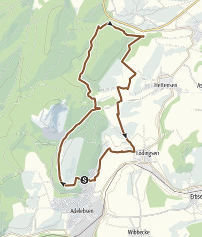Karte / Adelebsen - Lichtenborn - Lödingsen