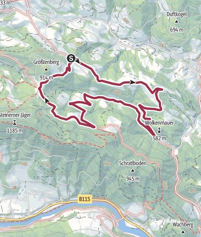 Karte / Rundweg Höllleiten Laussa