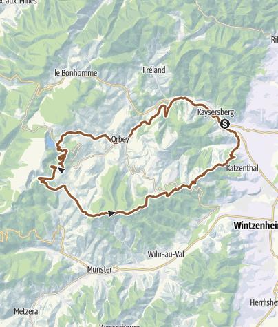 Carte / Ronde de Trois Lacs