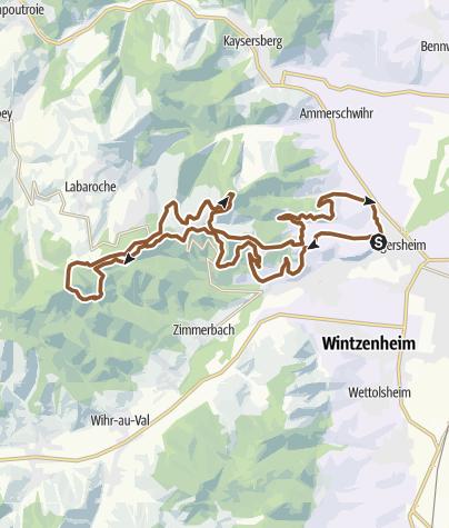 Carte / Vosges Vinaigre Seintures