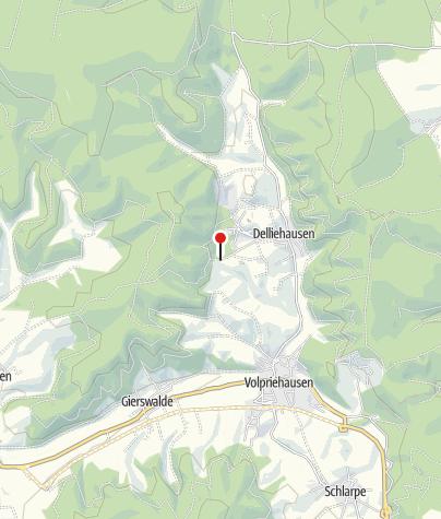 Karte / Wanderparkplatz Delliehausen Bergsee