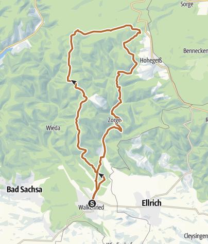 Karte / vom Kloster nach Hohegeiß und zurück