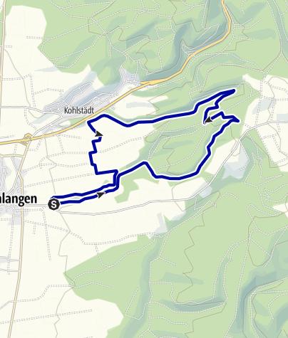 Kaart / 14km Langetal und Vorteltal