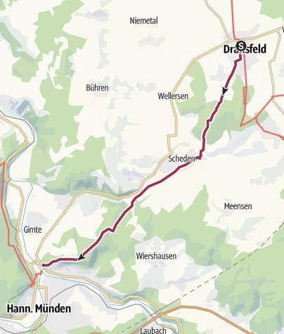 Karte / HoherHagenDevils Route Weserlied
