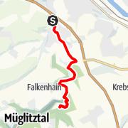 Karte / Auf dem Planetenweg zum Schloss Weesenstein