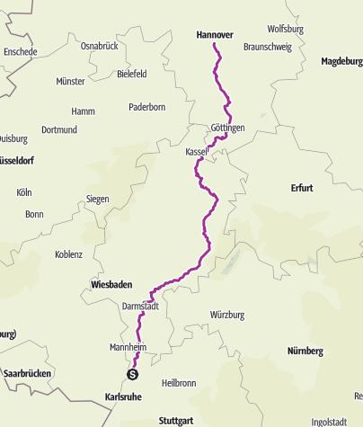 Karte / Tour d'Allemagne Part 2 #tourdallemagne Hockenheim Hannover 560 km