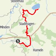 Karte / Pilgerweg: Weserbergland und Steinhuder Meer von Rinteln nach Steinhude
