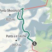 Karte / Zur Ciottulu di i  Mori Hütte im Golo-Tal
