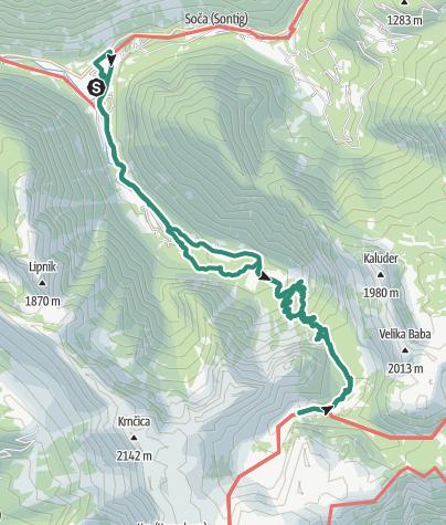 Map / Soča - Kmsko Jezero