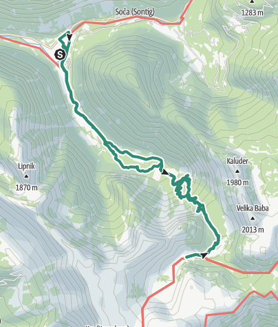 Karte / Soča - Kmsko Jezero