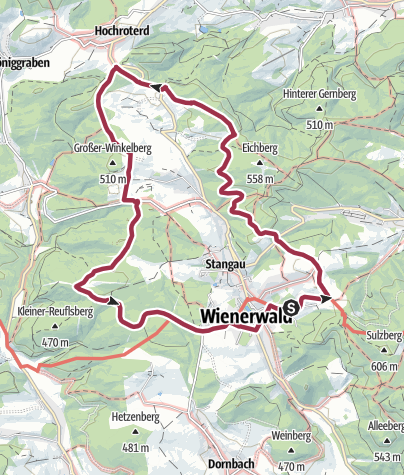 Karte / Rund um Sulz im Wienerwald