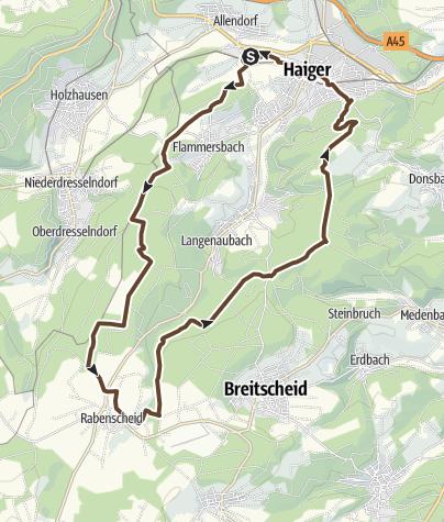 Map / Haiger Rabenscheid Feierabend Tour