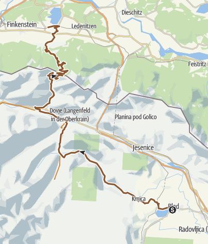 Zemljevid / Slowenienrunde 07_2016 4. Tag